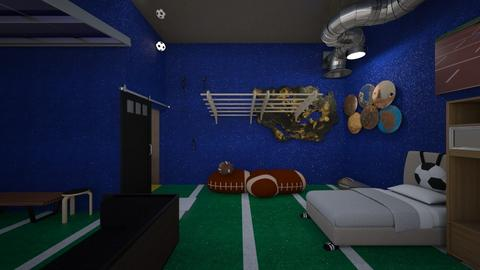 Teen Sports Bedroom - Kids room  - by Tiany Rice