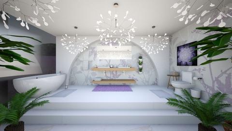 Lavender Bathroom - Bathroom - by dogsrmylife