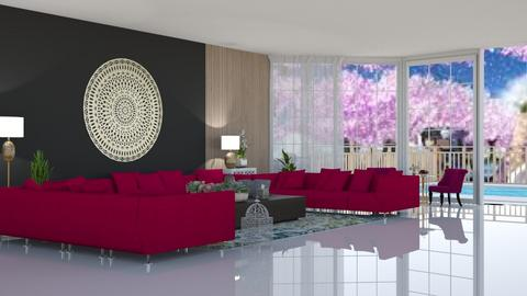 cherry living - Living room  - by nihalruttala