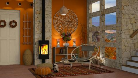 Autumn Pattern Hallway - by bigmama14