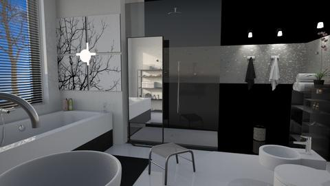 M_ Black and White - Modern - Bathroom  - by milyca8