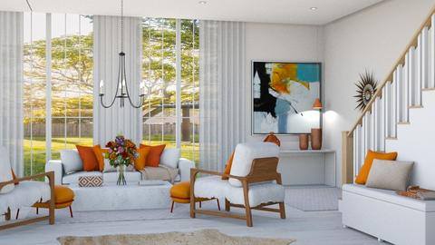 Orange and White - Living room  - by igell90