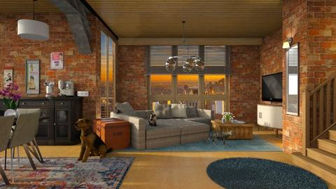 Reddish brown - Living room  - by Inna_Inas