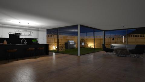 Dark and Wood - Living room  - by Tanem Kutlu