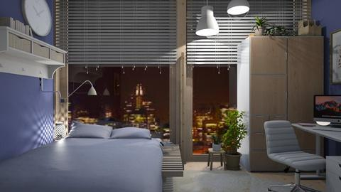 simple dorm BIG WINDOW - by Celia Schrag