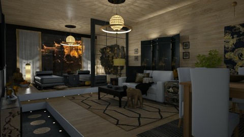 Asian Fusion - Eclectic - Living room  - by Kathran