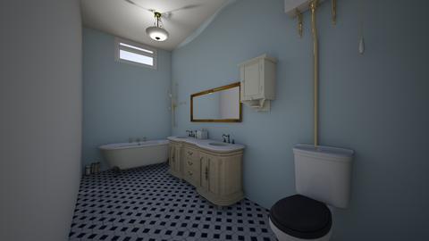 VintageWhiteRoomAndBath - Vintage - Bedroom  - by jade1111