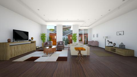 Sala Rustica - Rustic - Living room  - by Jeniffer Ehlers