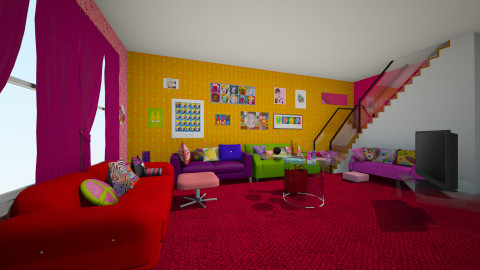 2 - Retro - Living room - by samar7945