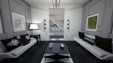 Black and White Lounge 2 - Living room  - by bobtastic8