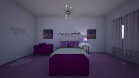 Purple life - Bedroom - by Alima Aydin