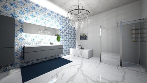 Marble bathroom - Modern - Bathroom  - by anapogorelec