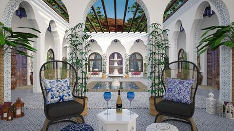 Design 512 Moroccan Courtyard - Garden  - by Daisy320