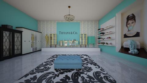Tiffany and CO closet - Glamour - Bedroom  - by fashiondesigner7