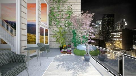 penthouse balcony - Modern - Garden - by mrrhoads23