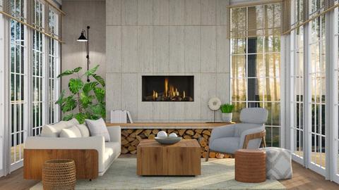 Sibling Cabin - Living room  - by dominicjames