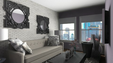 Living room in the City - Minimal - Living room  - by Hope42