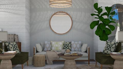 greeeen  - Modern - Living room  - by NEVERQUITDESIGNIT