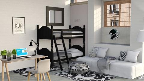 Student Dorm 3 - Bedroom  - by DarcieM88