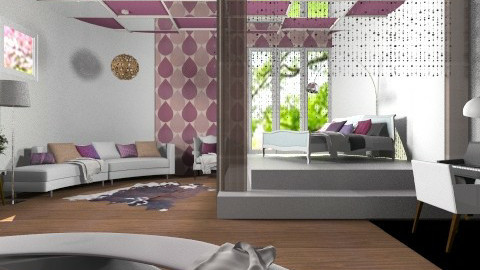 Soft purple waves - Eclectic - Bedroom  - by Laurika