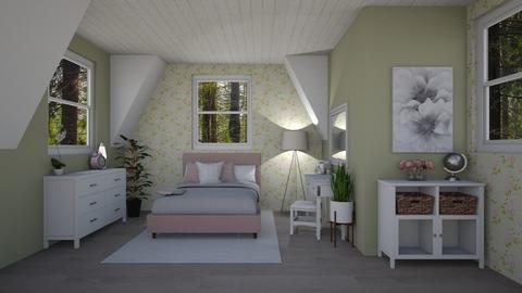 Attic Bedroom - Bedroom  - by unlucky me