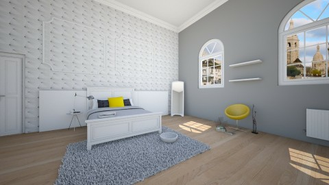 white classic bedroom - Classic - Bedroom  - by franciss