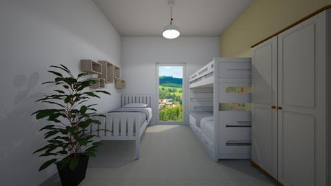 White and Yellow - Country - Kids room  - by Twerka