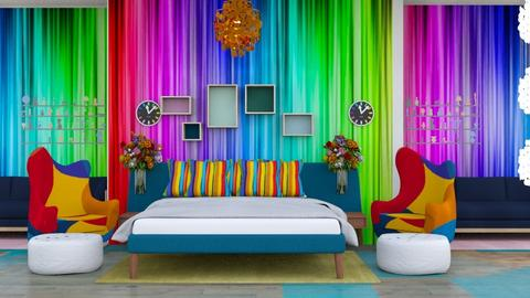 Fun and Colorful - Bedroom  - by Jahsoftball_