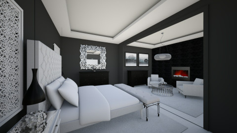 Luxury Hotel Bedroom - Glamour - Bedroom  - by Ana Mercedes