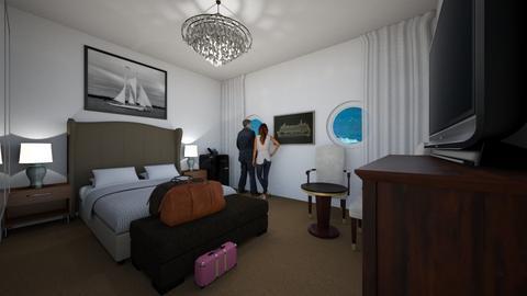 Cruise Ship Cabin - Bedroom - by SammyJPili