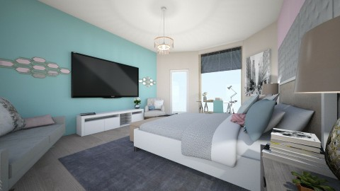 grey life - Bedroom - by IssaH