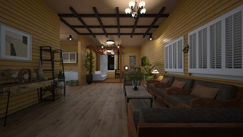 wood wall - Living room  - by melati_am