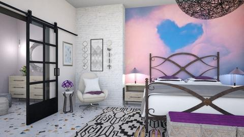 Pink and Purple Bedroom - Bedroom  - by matina1976