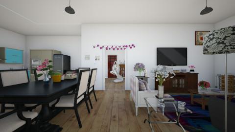 House - Living room - by Angelik Medina Sanchez