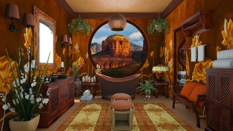 Design 153 Copper - Bathroom  - by Daisy320