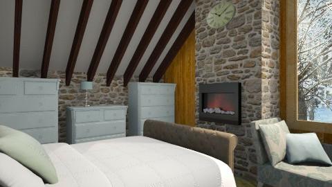 alpine cabin - Classic - by donella