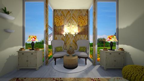 sunflower - Living room  - by Kylie Awa