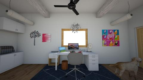 office 1 - Modern - Office  - by muffinandpeach