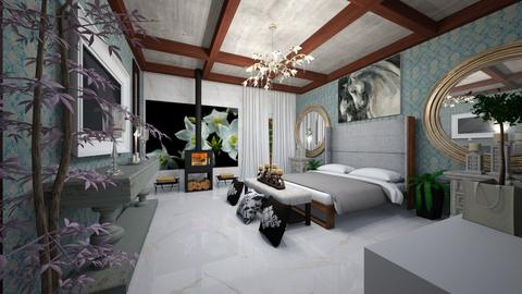 Mountain_Hotel_Suite s_Interior - Classic - Bedroom  - by Nikos Tsokos