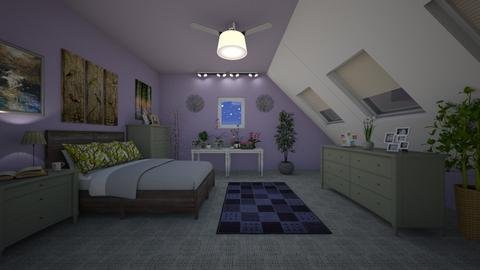 Attic Sanctuary - Bedroom  - by KarJef