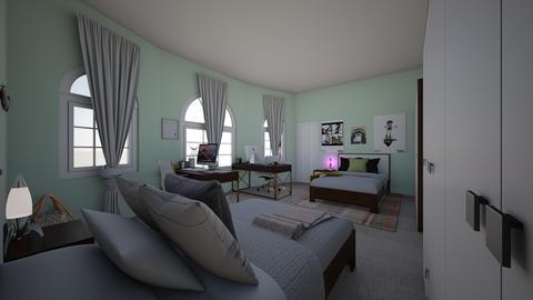 BigDormRoom - Rustic - Bedroom  - by jade1111