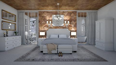 wooden bedroom - by gvidiani_nina
