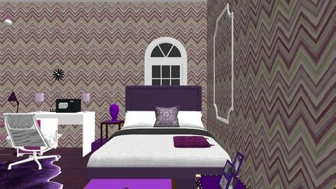 Purple Room  - Modern - Bathroom  - by adelynjoybonnot