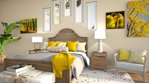Yellow Bedroom - Bedroom  - by Feeny