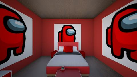 red among us bed room - Bedroom  - by crying_room