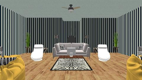 zebra living room design  - Glamour - Living room  - by deleted_1589337418_knathan
