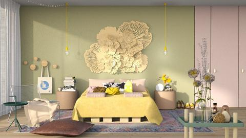 playful modern bedroom - Bedroom  - by bnu