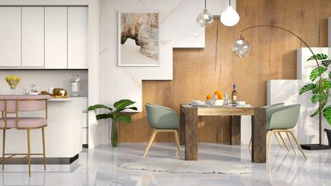 Diagonal Wood - Kitchen  - by millerfam