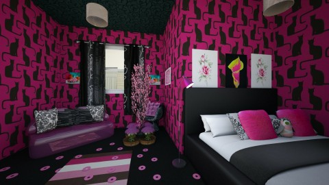 Girly Cat - Glamour - Bedroom  - by PippiLong