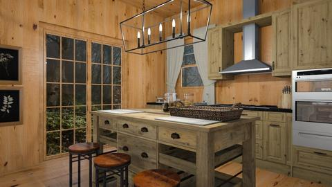 Cabin Kitchen - by rebsrebsmmg
